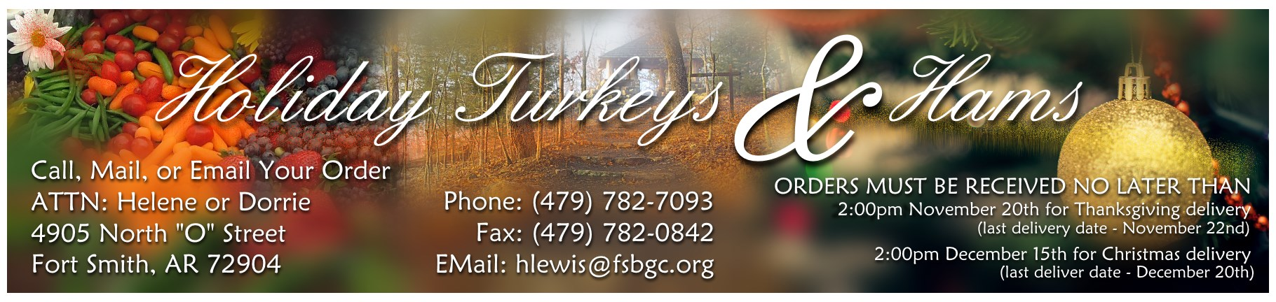 2017 Holiday Turkeys Hams Sale
